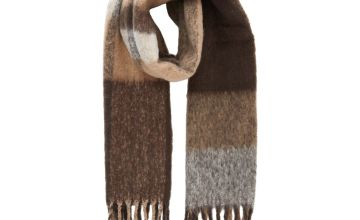 Brushed Colour Block Scarf - One Size