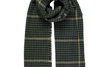 Green Dogtooth Scarf - One Size