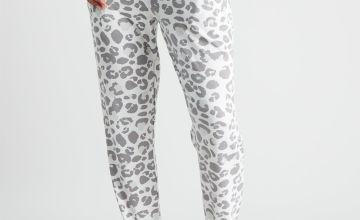 Leopard Print Soft Knit Pyjama Bottoms