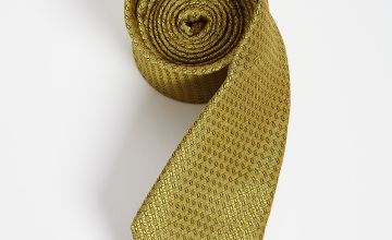 Gold Sateen Textured Tie - One Size