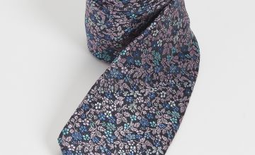 Lilac Floral Tie - One Size