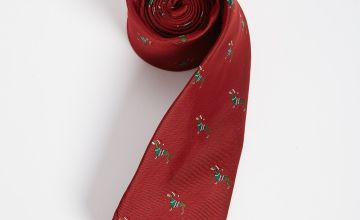 Christmas Red Novelty Sausage Dog Tie - One Size