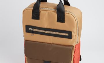 Colour Block Handheld Backpack - One Size