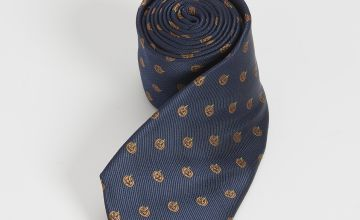 Halloween Navy Pumpkin Tie - One Size