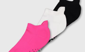Active Neon Trainer Socks 3 Pack - 4-8