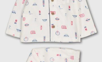 London Print Woven Traditional Pyjamas