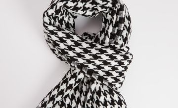 Dogtooth Print Scarf - One Size