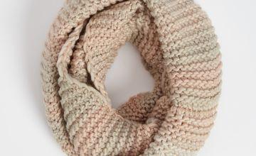 Pastel Knit Sparkle Snood - One Size