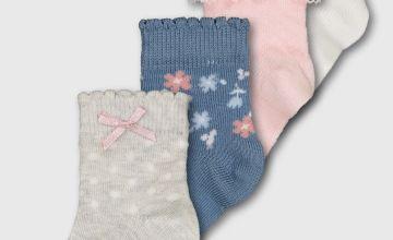 Pink Pattern Ankle Socks