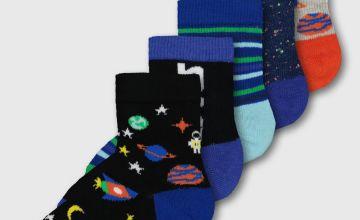 Space Ankle Socks 5 Pack