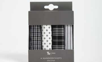 Grey Handkerchiefs 4 Pack - One Size