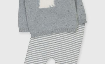 Grey Polar Bear Knitted Set