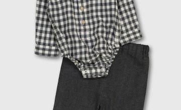 Check Bodysuit & Trousers