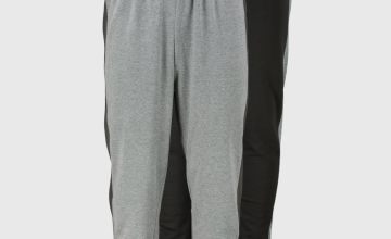 Black & Grey Jersey Side Stripe Joggers 2 Pack