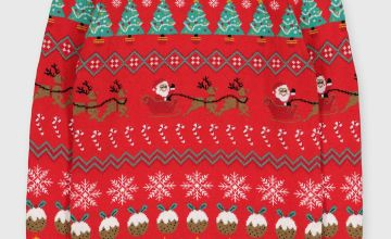 Christmas Red Fair Isle Wrapping Paper Jumper
