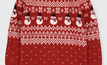 Christmas Family Dressing Red Snowman Jumper