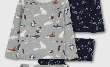 Polar Friends Snuggle Fit Pyjamas 2 Pack