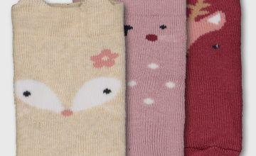 Woodland Animal Socks 3 Pack