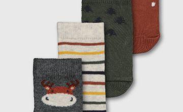 Woodland Ankle Socks 4 Pack