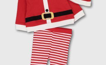 Christmas Santa Pyjamas & Hat