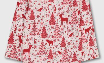 Christmas Red Winter Animals Bodysuit