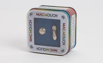 MAG MOUCH Silver Football & Boot Cufflinks - One Size