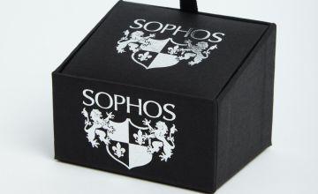 SOPHOS Silver Tone Round Cufflinks - One Size
