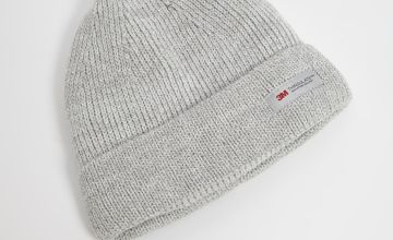 3M Winter White Knitted Beanie Hat - One Size
