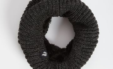 HEAT HOLDERS Charcoal Knitted Neck Warmer - One Size