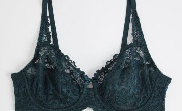 Red Comfort Lace Full Cup Bra