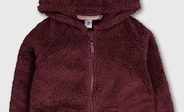 Borg Zip Through Hooded Fleece