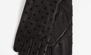 Black Star Leather Gloves