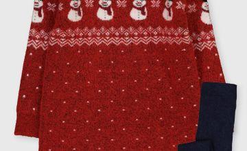 Christmas Family Dressing Snowman Dress Set
