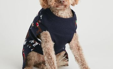 Christmas Festive Dog Print Dog Jumper