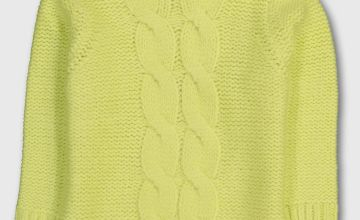 Neon Yellow Cable Knit Jumper