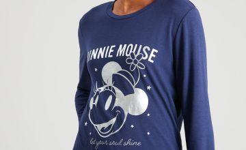 Disney Minnie Mouse Navy Pyjama Top