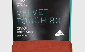 Mustard Velvet Touch 80 Denier Tights