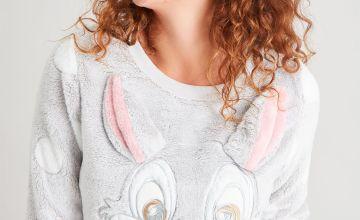 Disney Thumper Grey Fluffy Pyjama Top