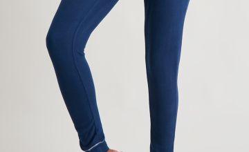 Navy Soft Knit Pyjama Leggings