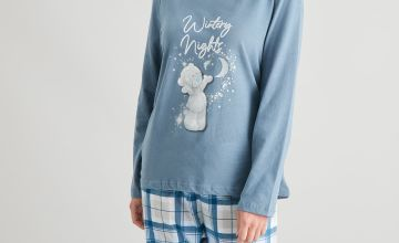 Christmas Tatty Teddy Grey Check Pyjamas