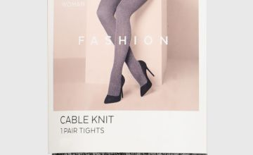 Black Cable Knit Tights