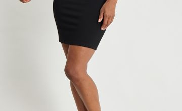 Black Snaffle Waist Pull On Skirt