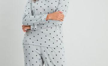 Heart Print Pyjama Top