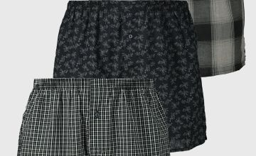 Monochrome Woven Boxers 3 Pack