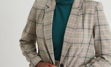 Dogtooth Check Blazer