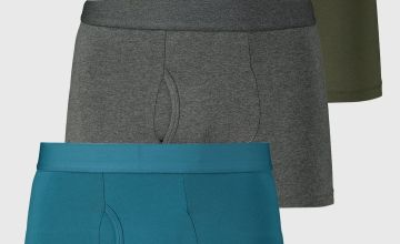 Teal, Charcoal & Green Trunks 3 Pack
