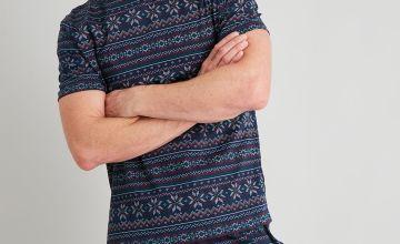 Christmas Fair Isle Print Shortie Pyjamas