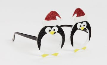 Christmas Novelty Penguin Glasses - One Size