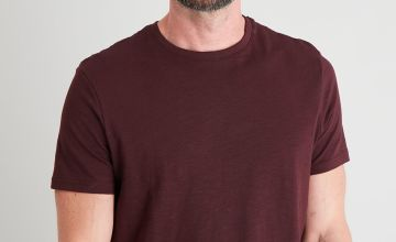 Oxblood Crew Neck T-Shirt