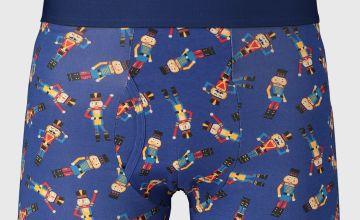 Christmas Blue Nutcracker Print Trunks